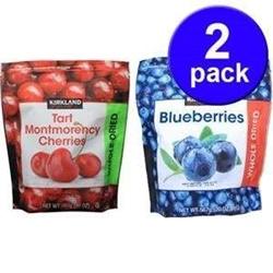 Hộp 2, gói Cherry sấy khô và Việt Quất sấy khô , mỗi gói 567g | Thực phẩm - Tiêu dùng