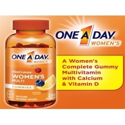 Kẹo Vitamin One A Day Women's VitaCraves Gummies 230viên | Các loại khác